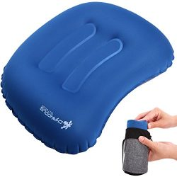 Inflatable Camping Pillow,Ultralight Inflating Travel Pillow,Compact Air Pillow Compressible for ...