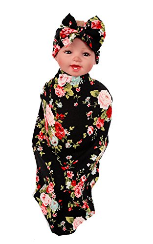 Baby Swaddle Blanket ,Patedan Hot Sleeping Bag and Headband Outfits Swaddling Hair Accessories