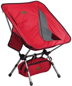 Trekology YIZI Go Portable Camping Chair Adjustable Height – Compact Ultralight Folding Ba ...