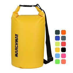 MARCHWAY Floating Waterproof Duffle Dry Bag 5L/10L/20L/30L, Roll Top Sack Keeps Gear Dry for Kay ...