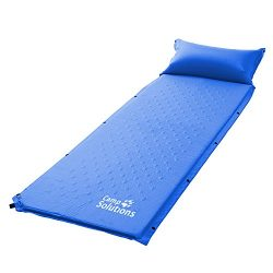 Self-Inflating Sleeping Pad, Air Camping Mat, Lightweight Foam Padding with Inflatable Pillow, L ...