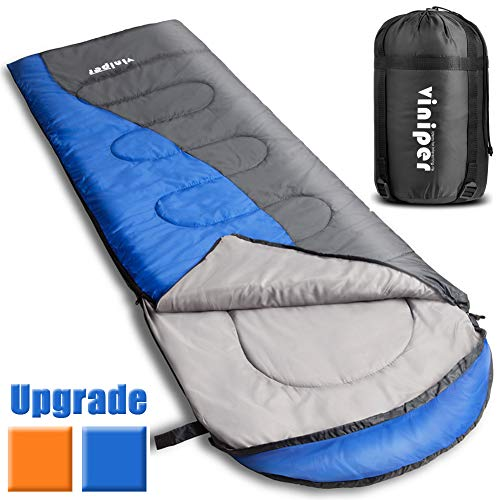 VINIPER Sleeping Bag, Comfort, Waterproof and Lightweight Envelope Sleeping Bag With Compression ...