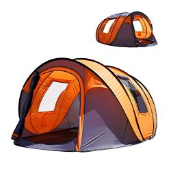 "Oileus Pop up Tents Camping 4 to 6 Person Tent Sky-Window(45""x 25"") Instant Camping Tent 14 Rein ..."