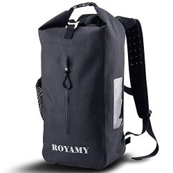 ROYAMY 25L Waterproof Dry Bag Backpack – 600D TPU Fabrics with Removable 15'Laptop Sleeve- ...