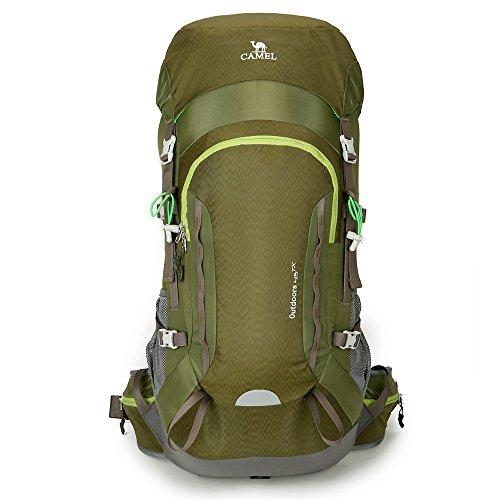 Camel 45L Internal Frame Backpack High-Performance Backpack for Backpacking Outdoor Hiking Trave ...