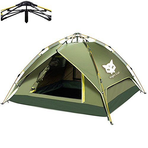 Night Cat Camping Tent 2 3 4 Person Easy Instant Pop Up Tent Backpacking Automatic Hydraulic Dou ...