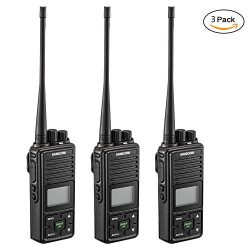 2 Ways Radio Long Range Samcom FPCN10A Walkie Talkie 20 Channel Wireless Intercom with Group But ...