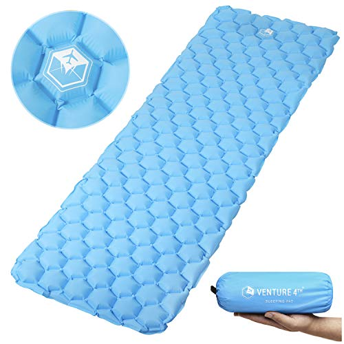 VENTURE 4TH Ultralight Sleeping Pad Lightweight, Compact, Durable, Tear Resistant, Supportive an ...
