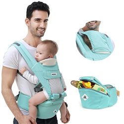 360 Ergonomic Baby Carrier Adjustable Backpack with Hip Seat,12 Positions All Seasons Summer,Bab ...