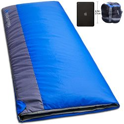 NORSENS Lightweight Warm Weather Sleeping Bag with Compact Compression Sack for Camping, Backpac ...
