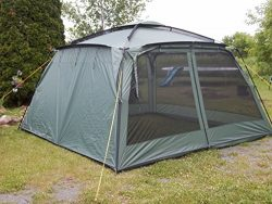 "NEW! Yanes Kuche Kitchen Tent (12 x 12 x 7'6"") With Rain Panels, Screen House, Dinin ..."