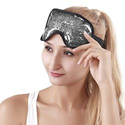 Cooling Mask Gel Eye Mask with Soft Plush Backing, Reusable Cold Pack Eye Mask Soothing Eye Pad  ...