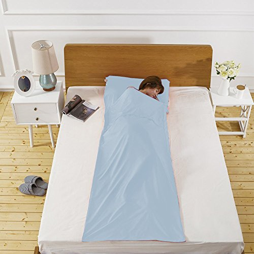 Lightweight Warm Roomy Cotton Sleeping Bag Liner Sleep Sack Camping Travel Outdoor Picnic Travel ...