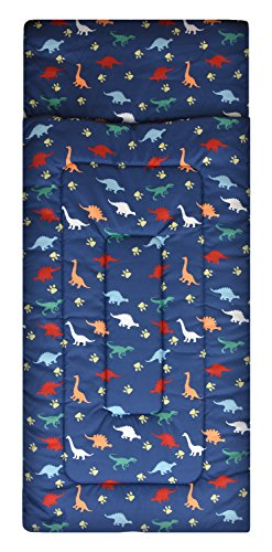 American Kids Dino Sleeping Bag, Navy