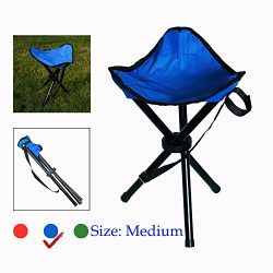 TOGRAND Foldable Portable Tripod Stool Folding Chair for Outdoor Activities,Such as Fishing, Cam ...