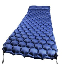 WEINAS Sleeping Pad Ultralight Compact Camping Backpacking Air Pad With Pillow Inflatable Sleepi ...