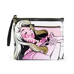 Disney Sleeping Beauty Aurora Two Piece Cosmetic Case Set Bag for Girls