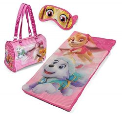 Paw Patrol Girls Sleepover Set – Sleeping Bag, Tote Purse & Eye Mask