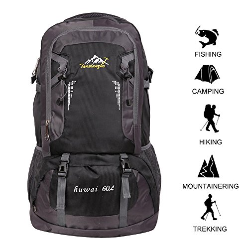 c60bc5d1b5a3 Gohyo 60 L Waterproof Ultra Lightweight Packable Climbing Fishing Backpack  Hiking Daypack