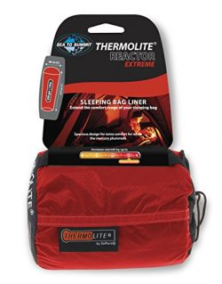 Sea to Summit – Reactor Extreme – Thermolite Mummy Liner, One Size, Red