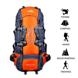 Gohyo 80 L Internal Frame Backpack Outdoor Waterproof Backpack Climbing Fishing Rucksack Hiking  ...