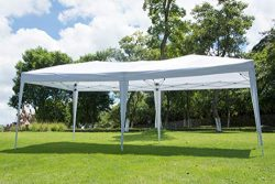 NSDirect 10 x 20 ft Outdoor Party Tent Easy Pop Up Canopy with Carrying Case/Bag Gazebo Pavilion ...