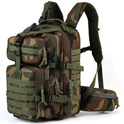 SHARKMOUTH Military Tactical Backpack 3 Day Small Assault Pack MOLLE Bug Out Bag Rucksack Surviv ...