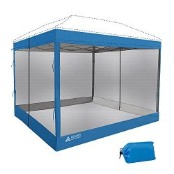 Leader Accessories Mesh Screen Zippered Wall Panels for 10′ x 10′ Canopy (Tent Walls ...