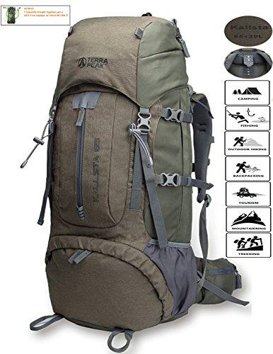 Backpacking Backpack Hiking Backpack Internal Frame Backpack backpacks for travel 65L+20L with f ...