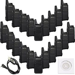 Retevis RT22 Walkie Talkies VOX 16CH 400-480MHz CTCSS/DCS 2 Way Radios (20 Pack) and Programming ...